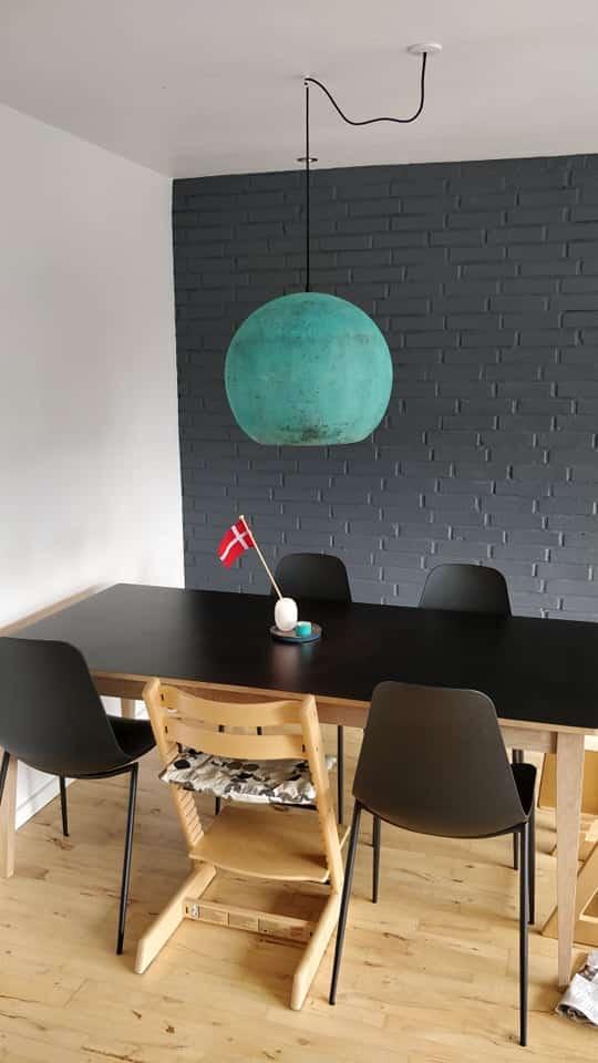 Tilfreds kunde har købt Bali lampe i oxideret grøn i Ø50