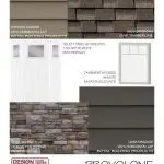 Ext. Material Board 11x8.5 Provolone