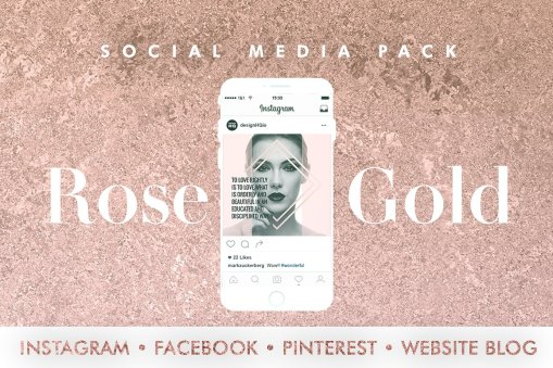 Rose Gold - Social Media Template Bundle - Design HQ