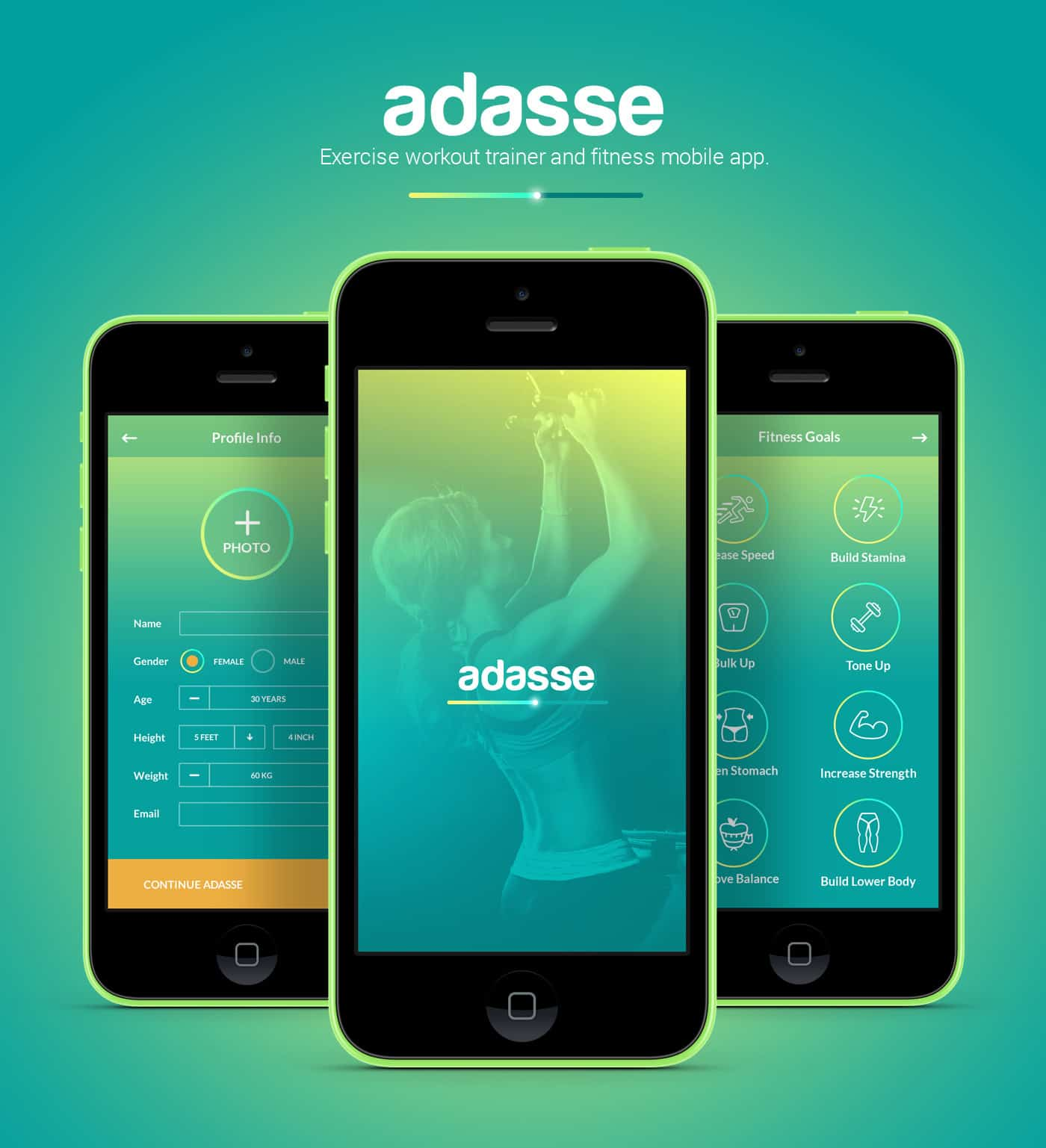 adasse gym workout mobile app by naresh kumar   design ideas