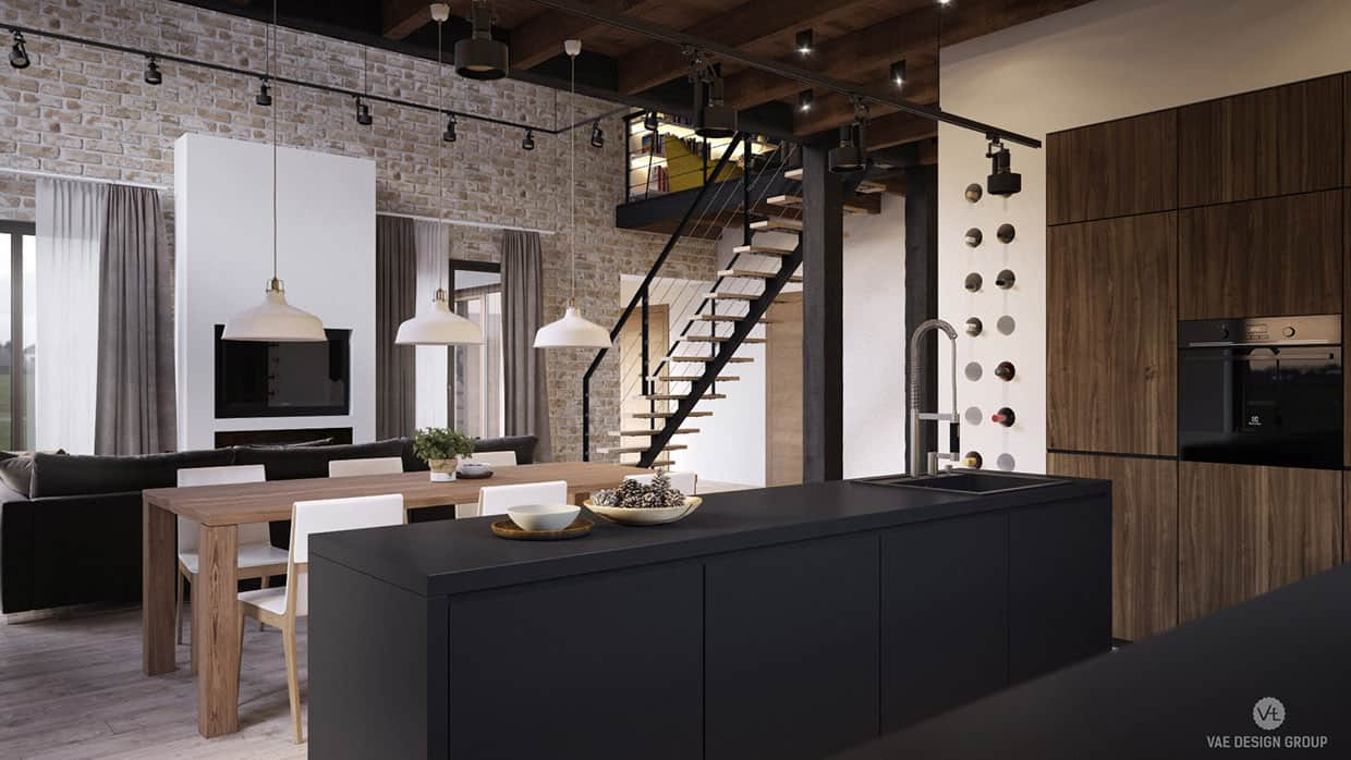 We Like To Design A House In The Style Of Loft And Wooden Structure It Can Be Used Many Items Decoration Customer Wanted Interior Was