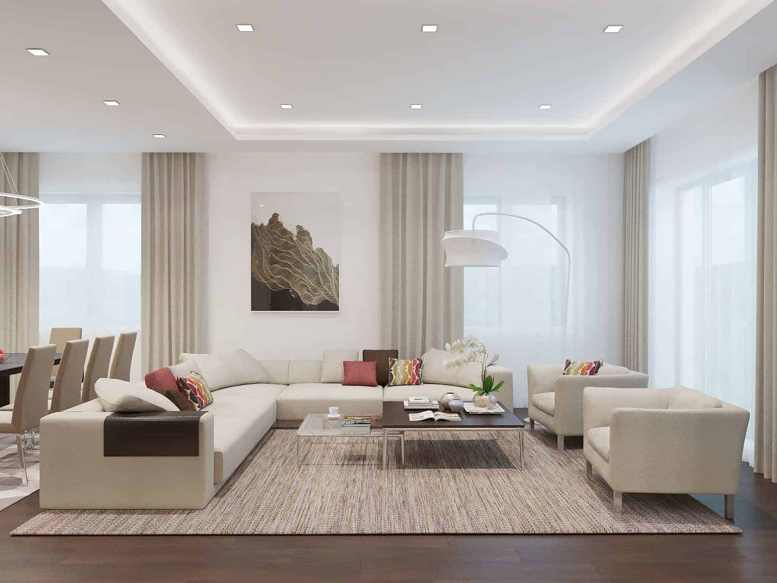 Living Room With Light Colors - Design Ideas