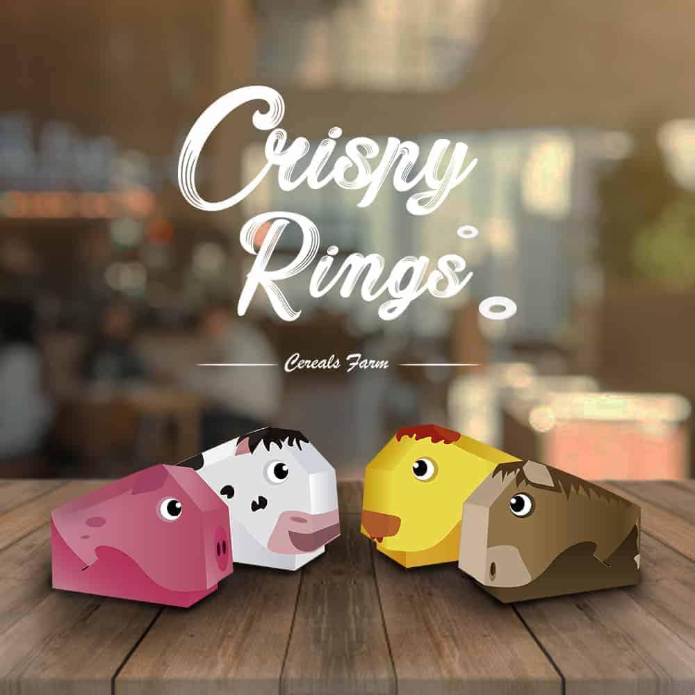 Crispy Rings, packaging for kids