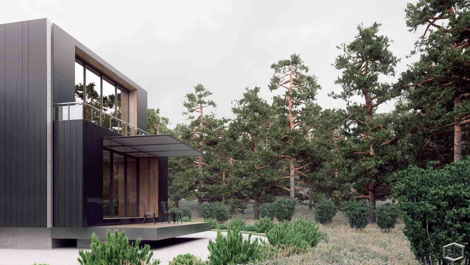 Forest villa design ideas for Villa design ideas