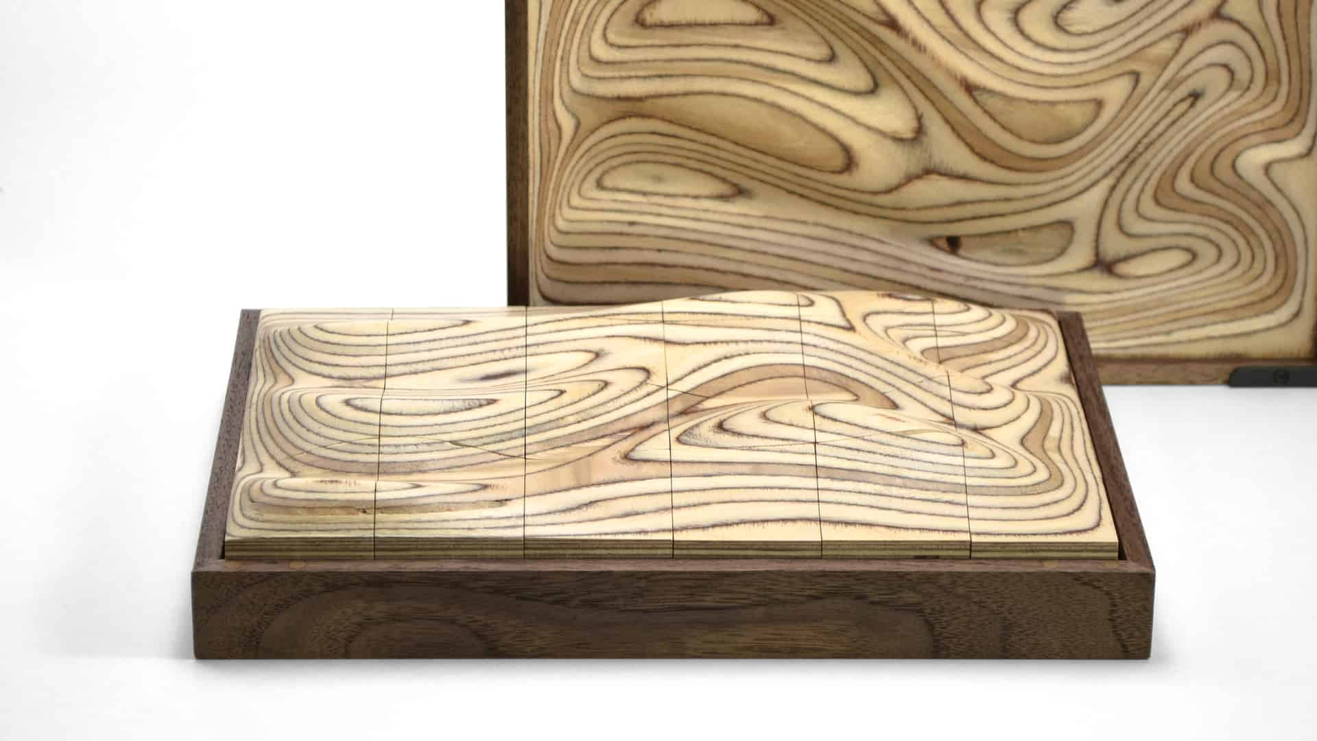 Strata | A sculptural wooden surface puzzle