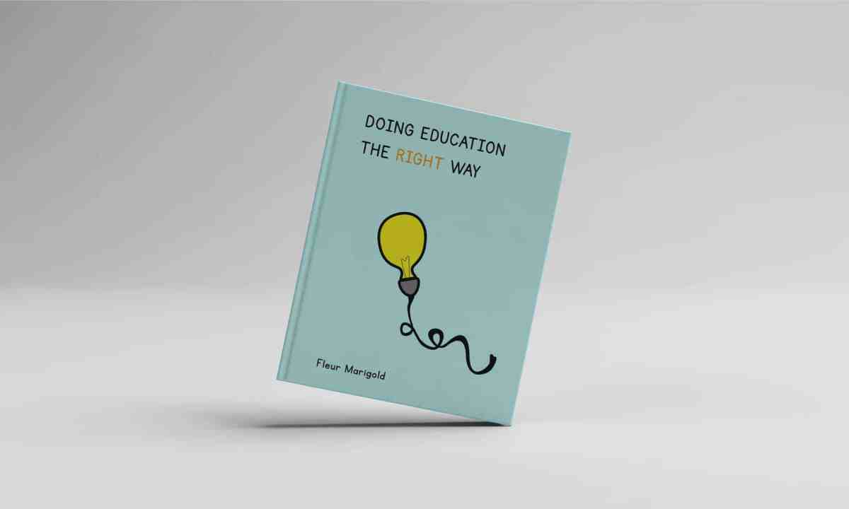 Doing Education The Right Way - Book Cover - Design Ideas