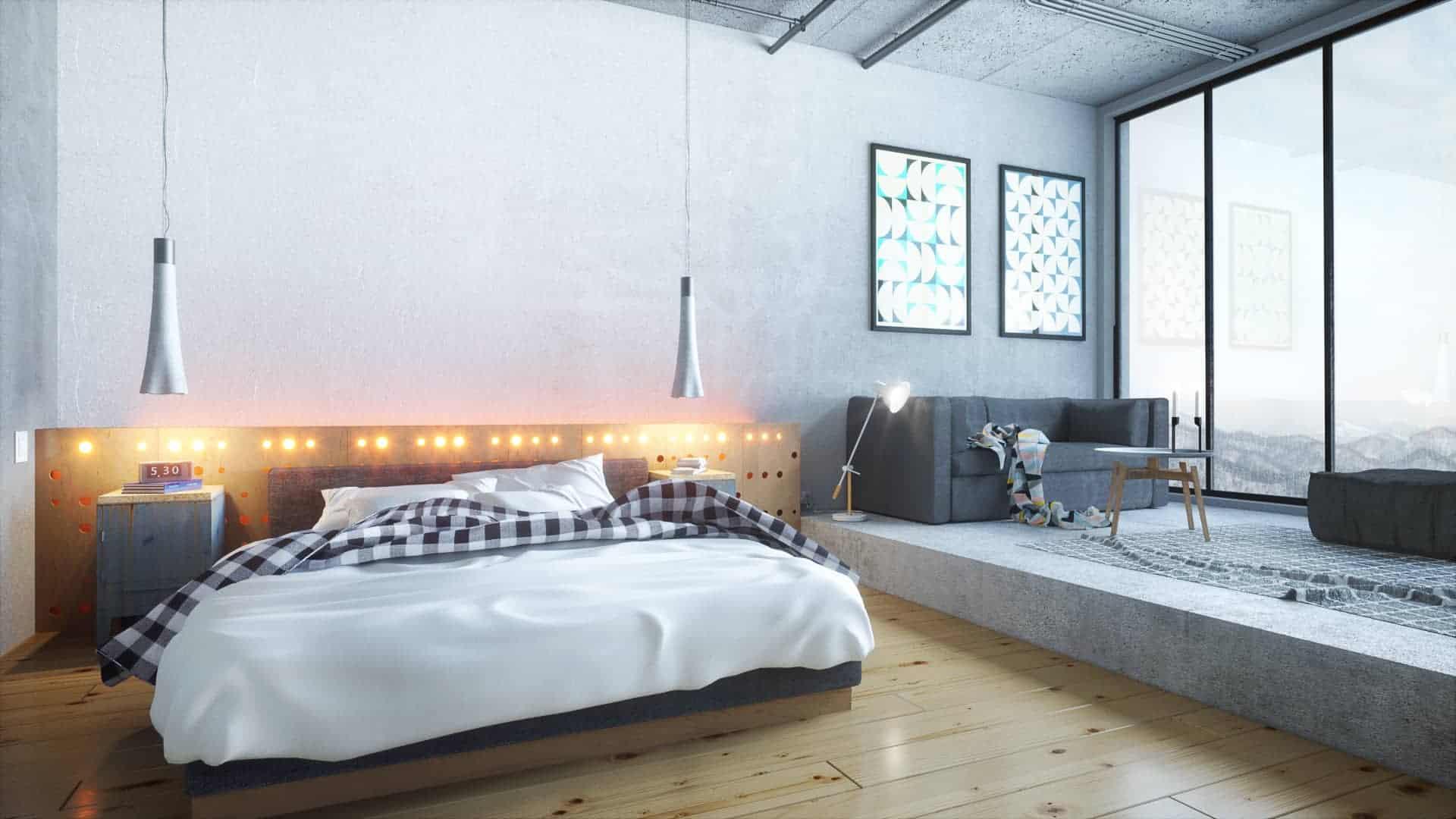 Industrial Bedroom & Industrial Bedroom - Design Ideas