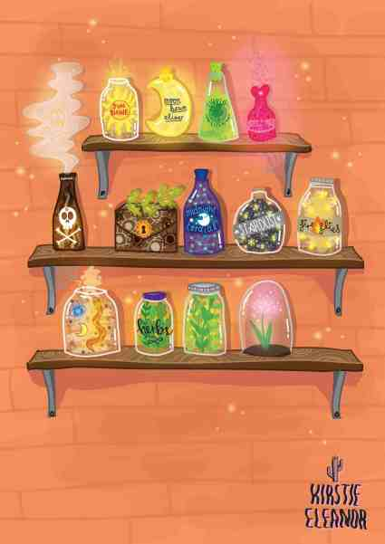 Potion Shelves