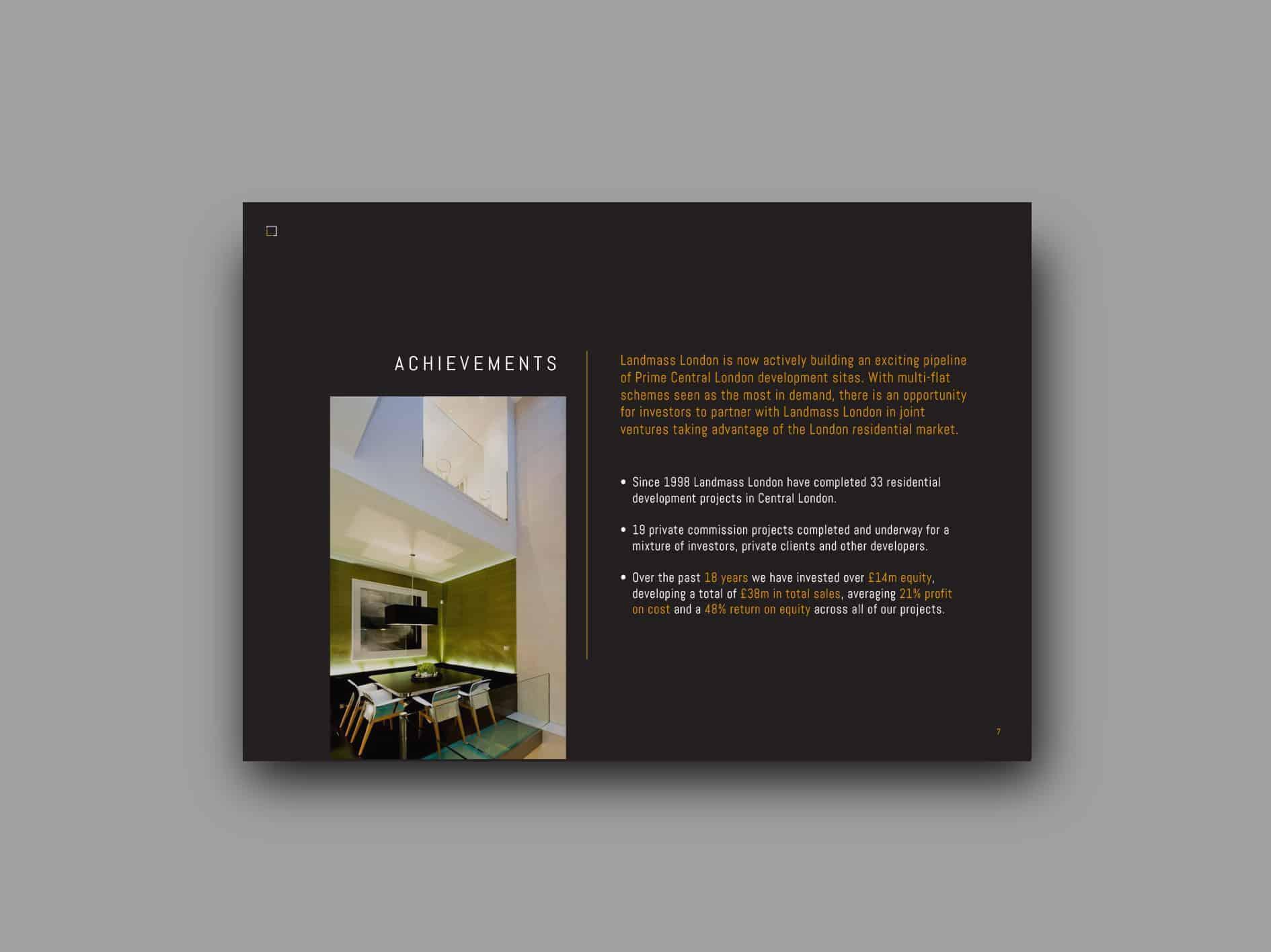 Landmass London Design Ideas - Luxury go to market presentation scheme
