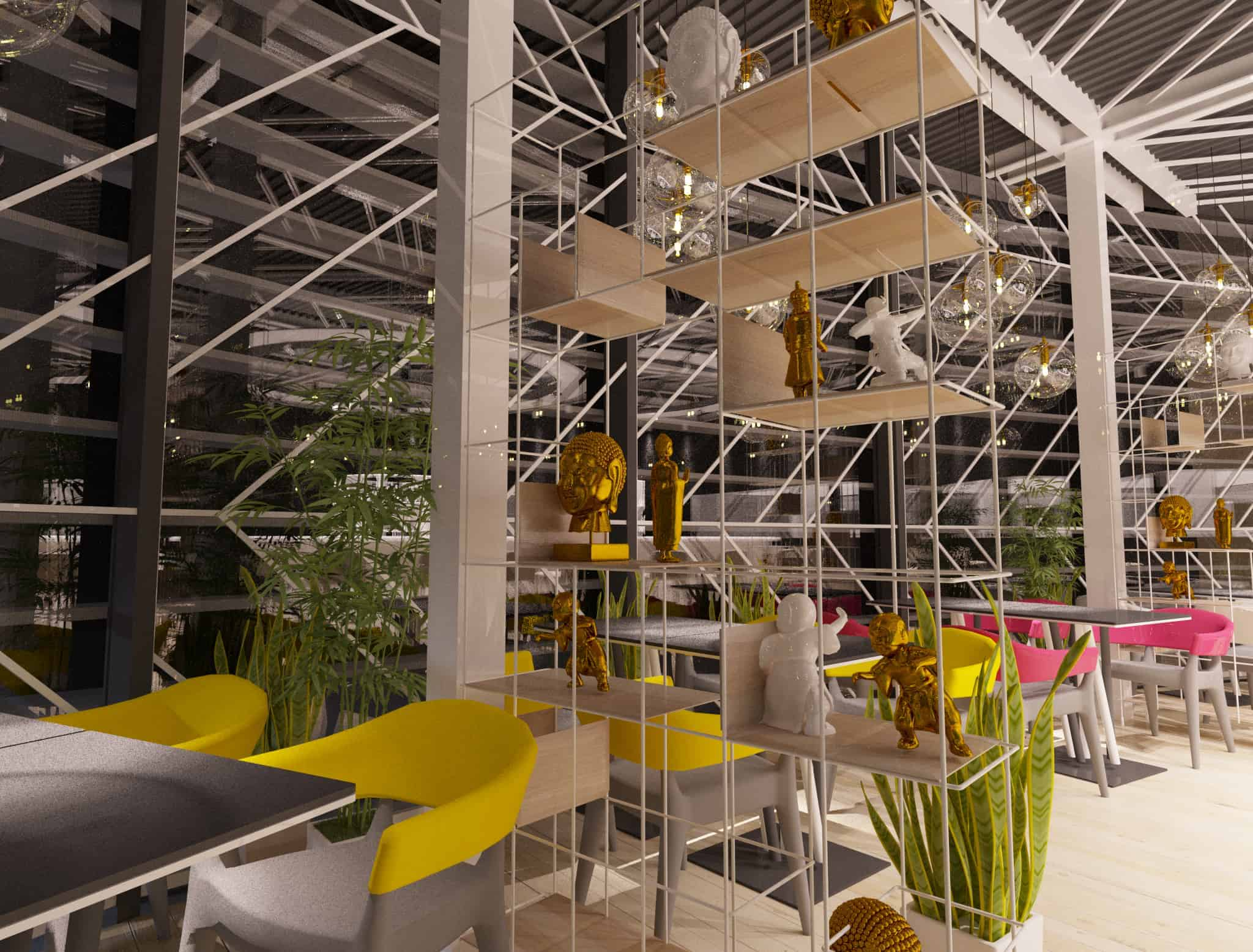 pan-asian restaurant - design ideas