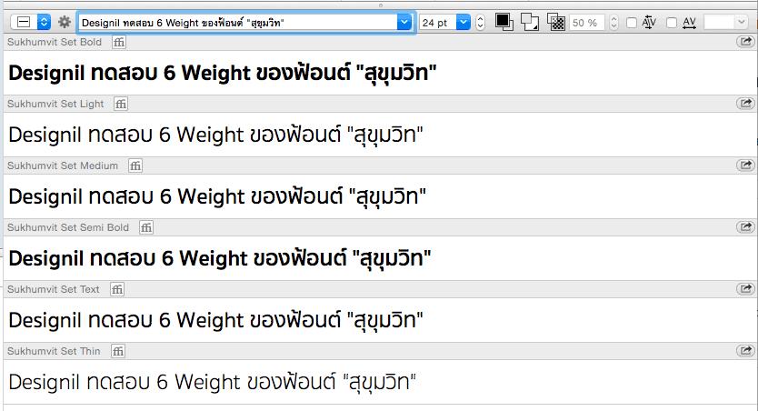 "Test Free Thai Font ""Sukhumvit Set"""