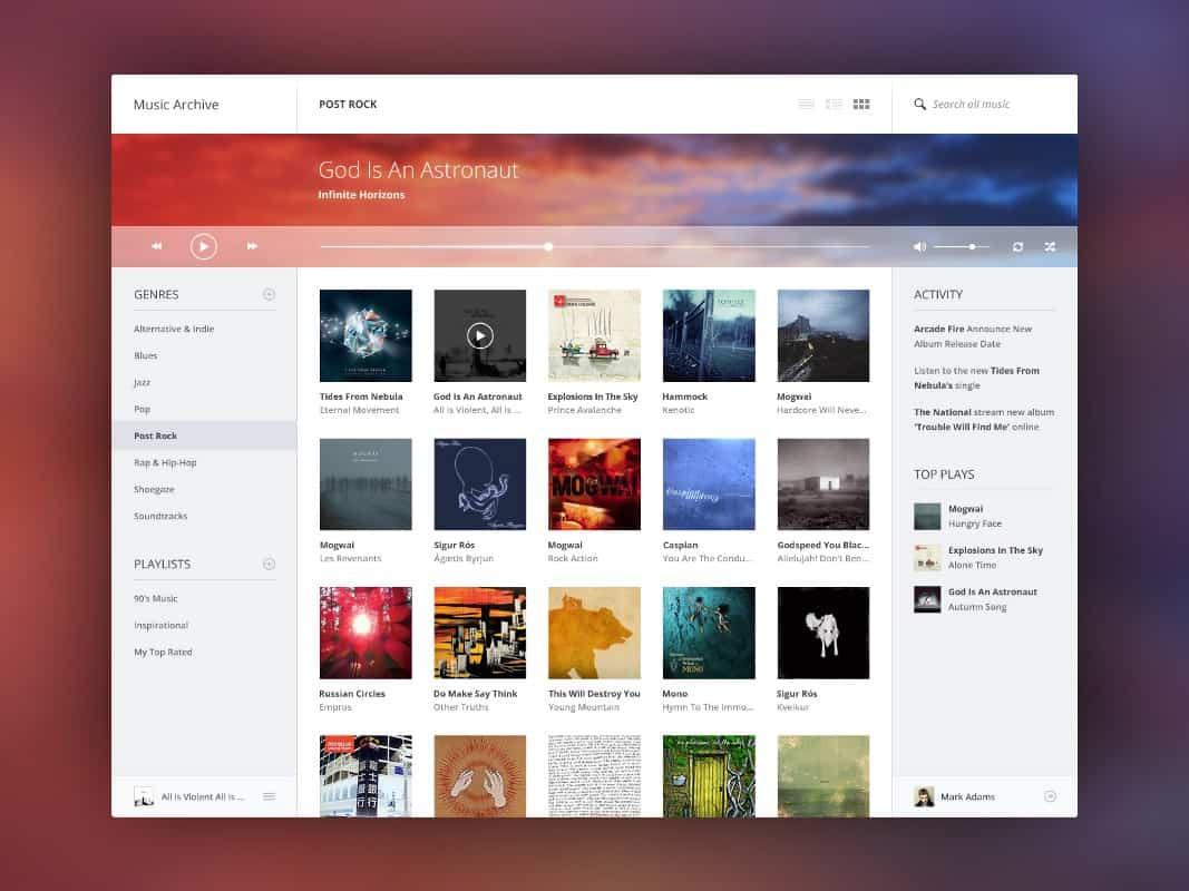 Music UI Design Concept