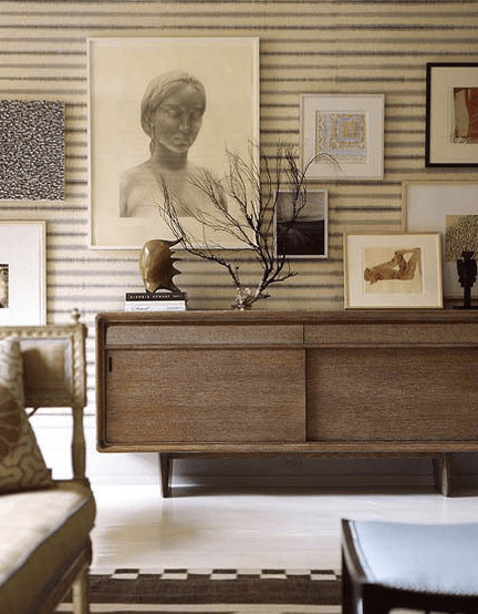 mid century credenza living room