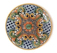 Mexican painted dish