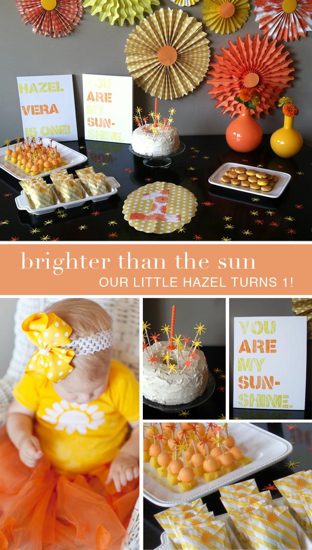 Sunshine First Birthday Party