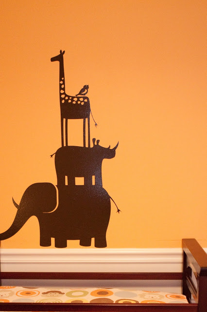 Safari nursery wall decal