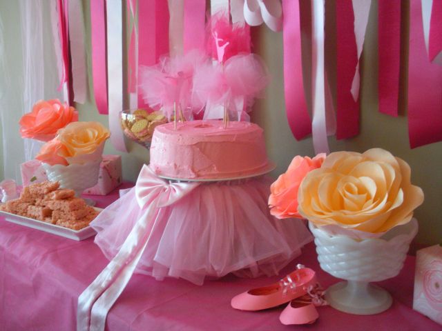 Ballet birthday party cake