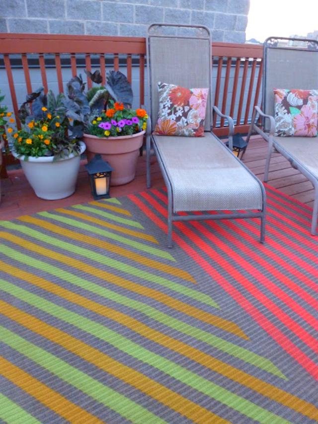 Painted-rug