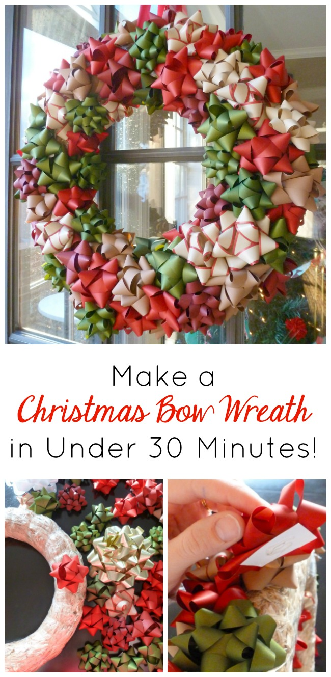 How to make a Christmas bow wreath in under 30 minutes