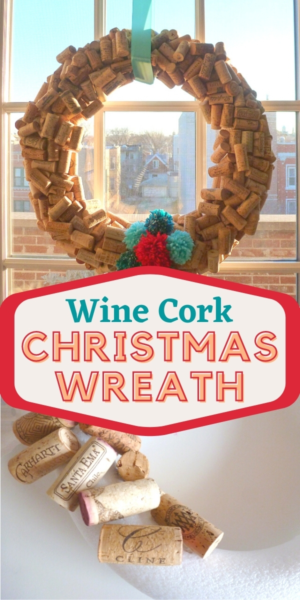 DIY Wine Cork Christmas Wreaths