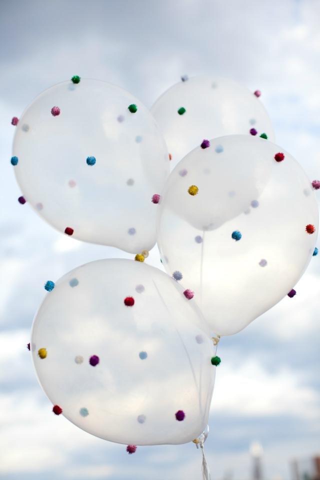 DIY Pom-Pom Balloons Craft