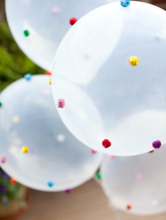 Easy DIY Pom-Pom Balloons Craft