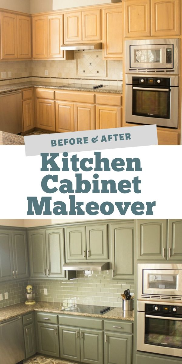 Awesome kitchen cabinet makeover with Sherwin-Williams Thunderous paint