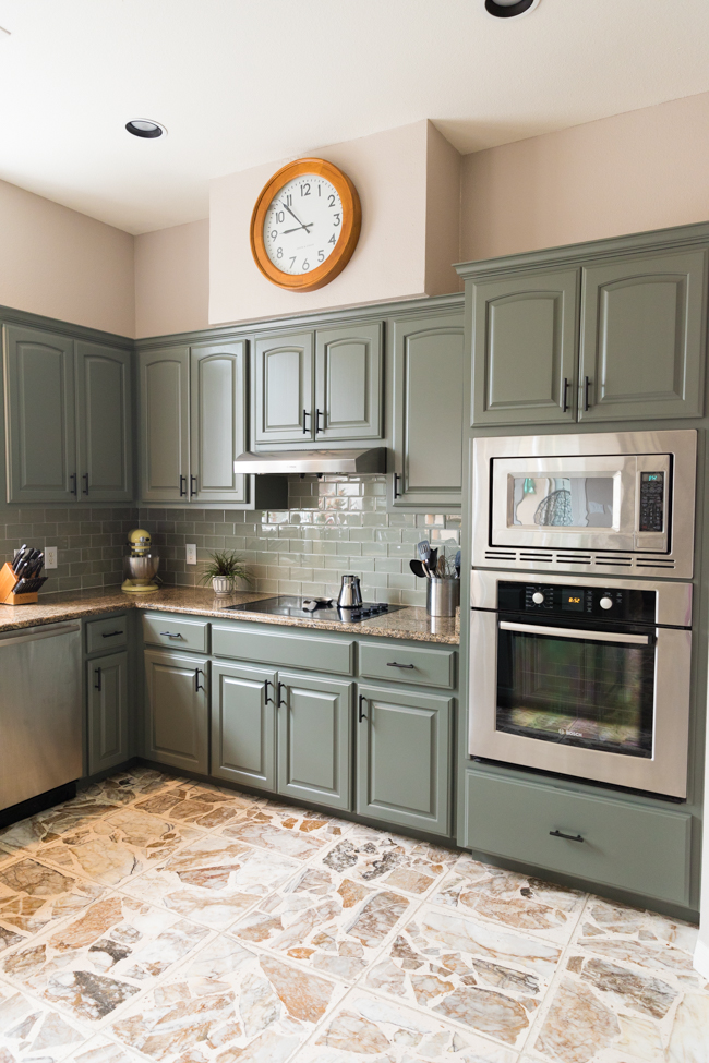 Kitchen cabinet remodel with Paper Moon Painting