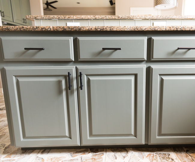 Kitchen cabinets painted by Paper Moon Painting