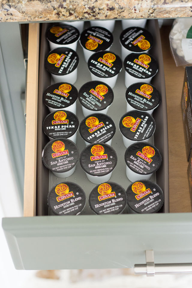 Cafe Ole K-Cups in drawer