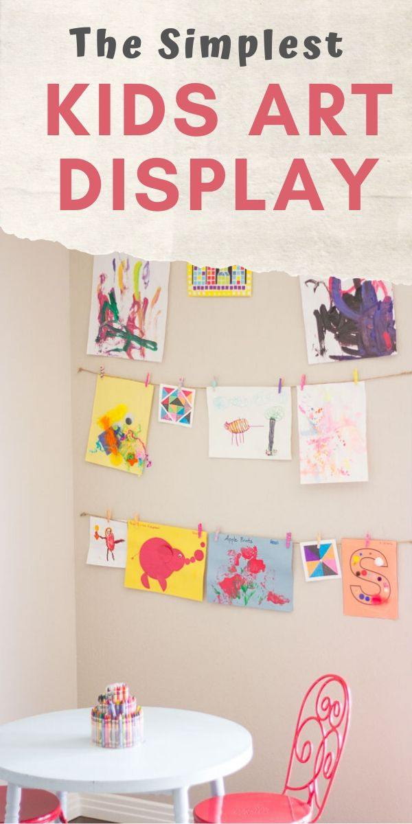 How to make a rotating kids art display