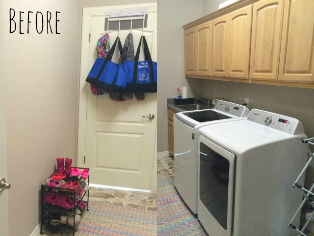 Laundry Room Makeover Stacked Washer Dryer