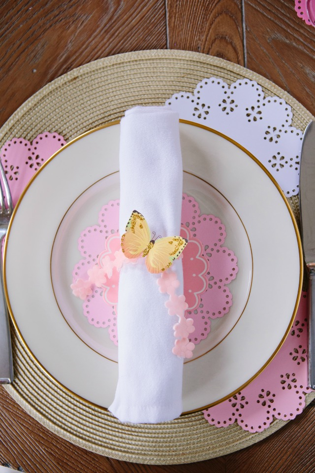 Mother's Day Butterfly Theme Table Setting