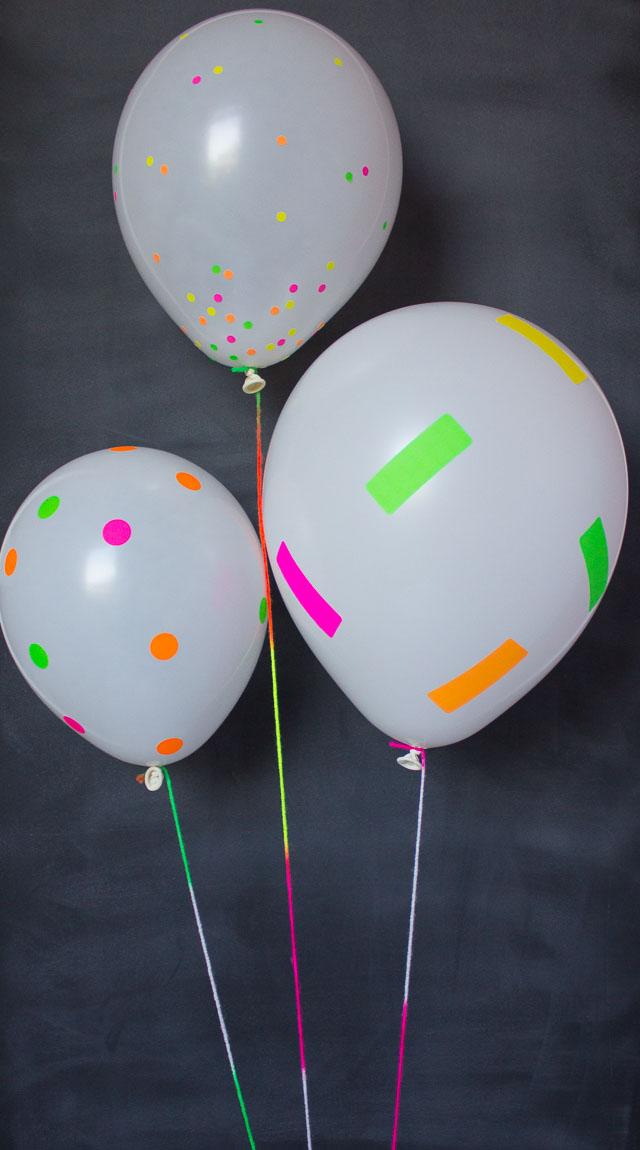 DIY Neon Sticker Balloons!