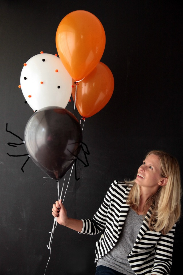DIY Halloween balloons || Design Improvised blog