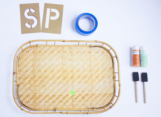 Thrifted Serving Tray Makeover! || Design Improvised blog