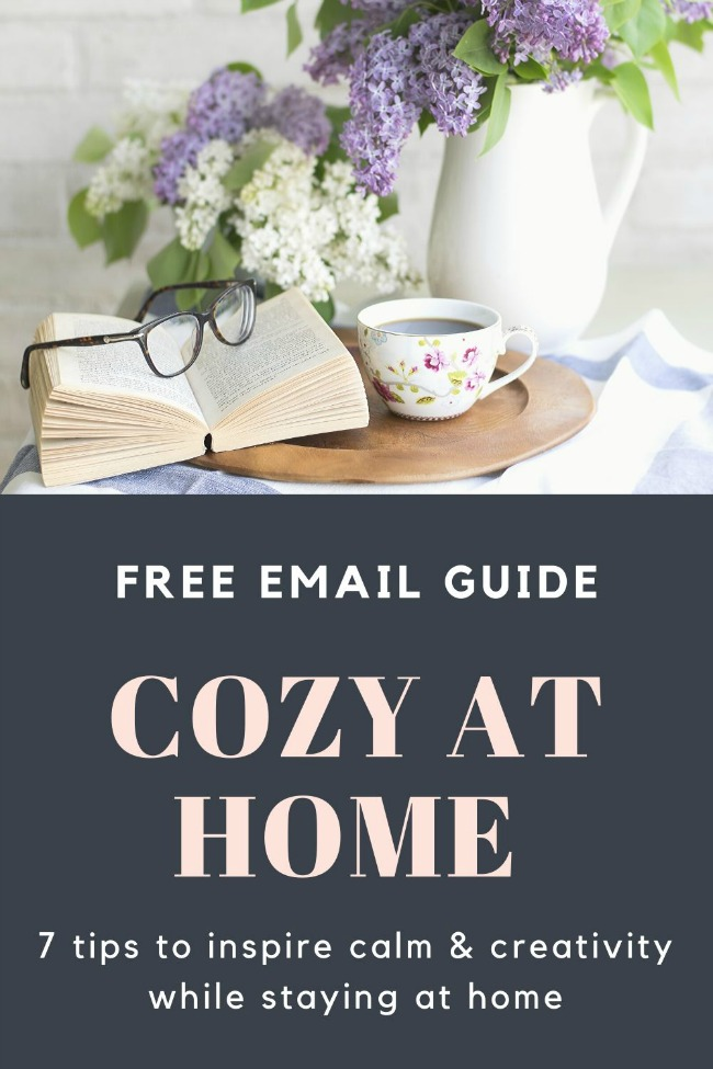 Cozy at home email guide signup