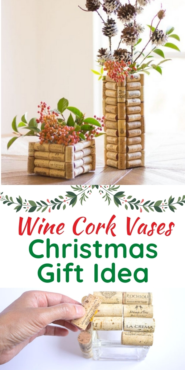 DIY Wine Cork Vases