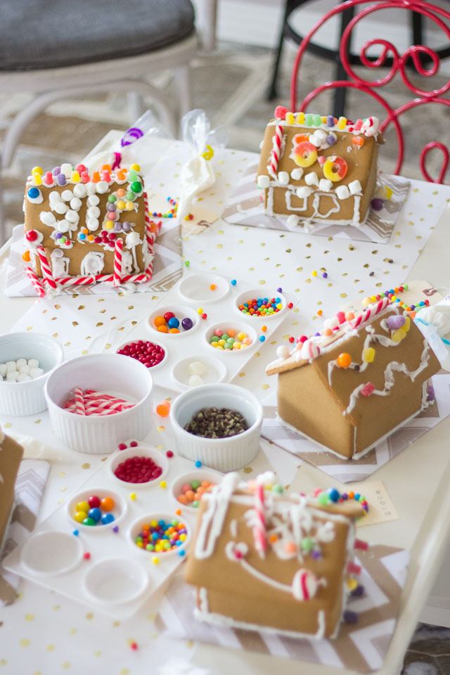 Celebrate National Gingerbread House Day with a decorating party!