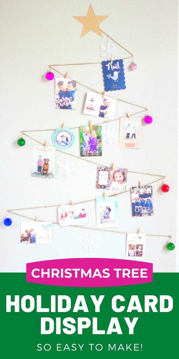 Christmas Tree Holiday Card Display