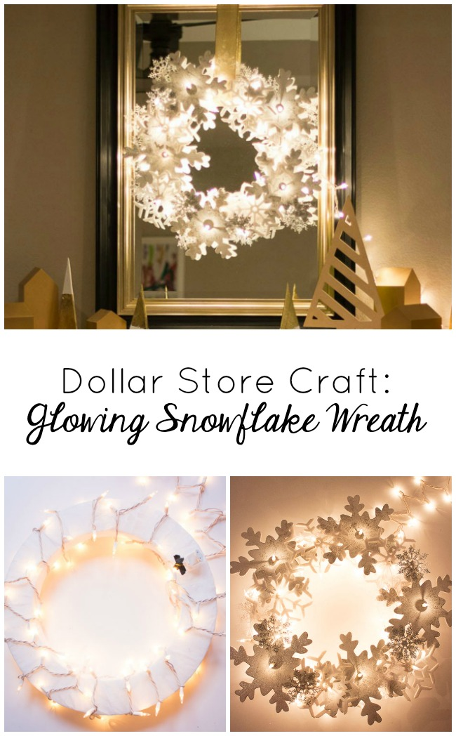 Dollar store snowflake wreath