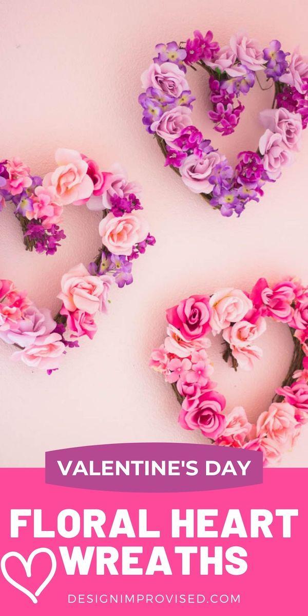DIY Floral Heart Wreaths