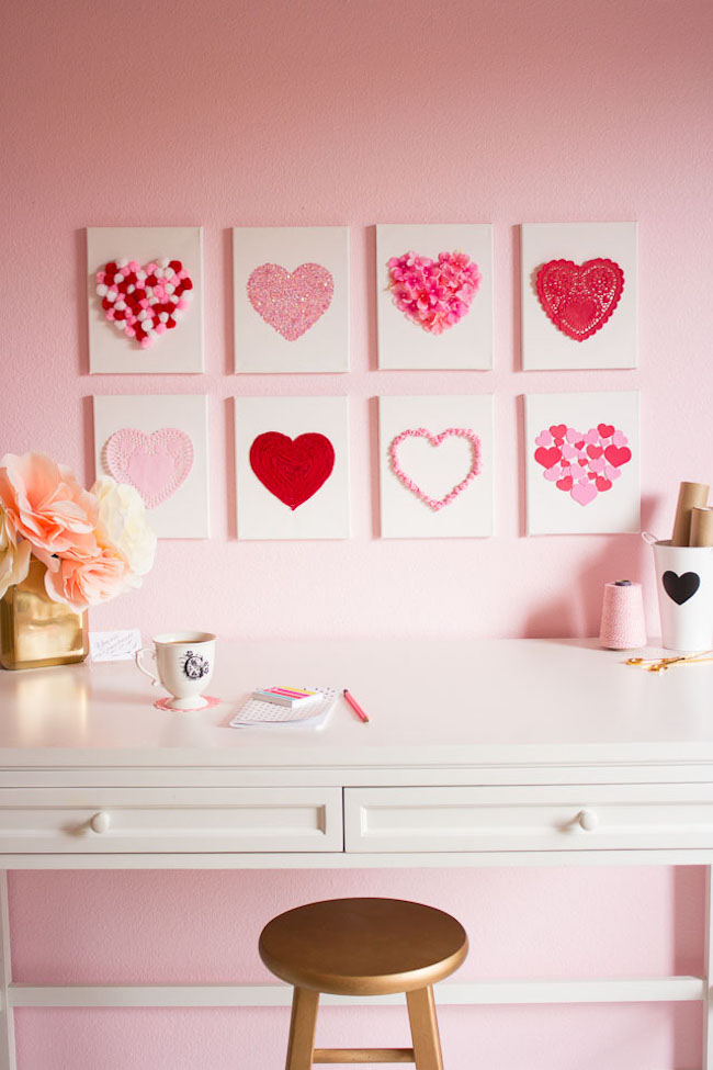 Heart art - perfect for Valentine's Day art or year-round decor!