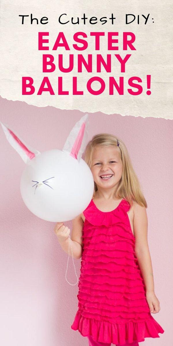 DIY Easter Bunny Balloons