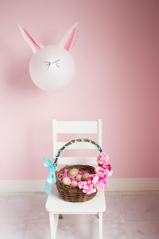Easter bunny balloon craft idea