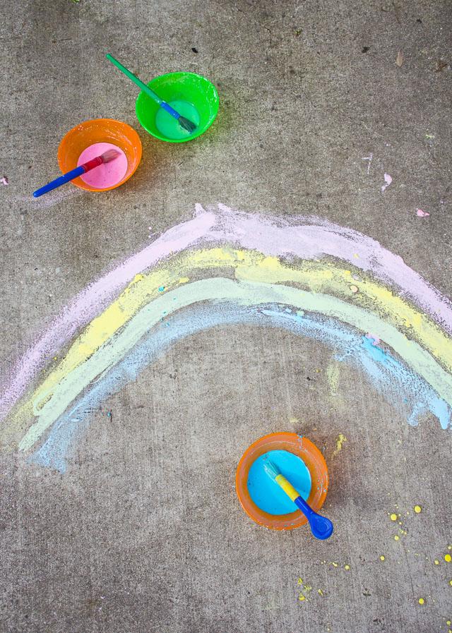 How to make sidewalk paint