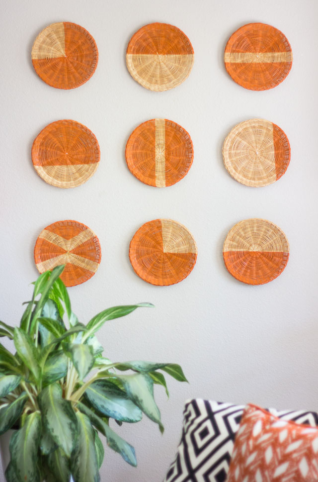 modern basket wall art