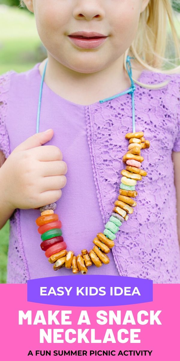Cereal Snack Necklace Kids Activity Idea