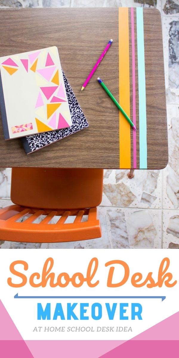 DIY School Desk Makeover