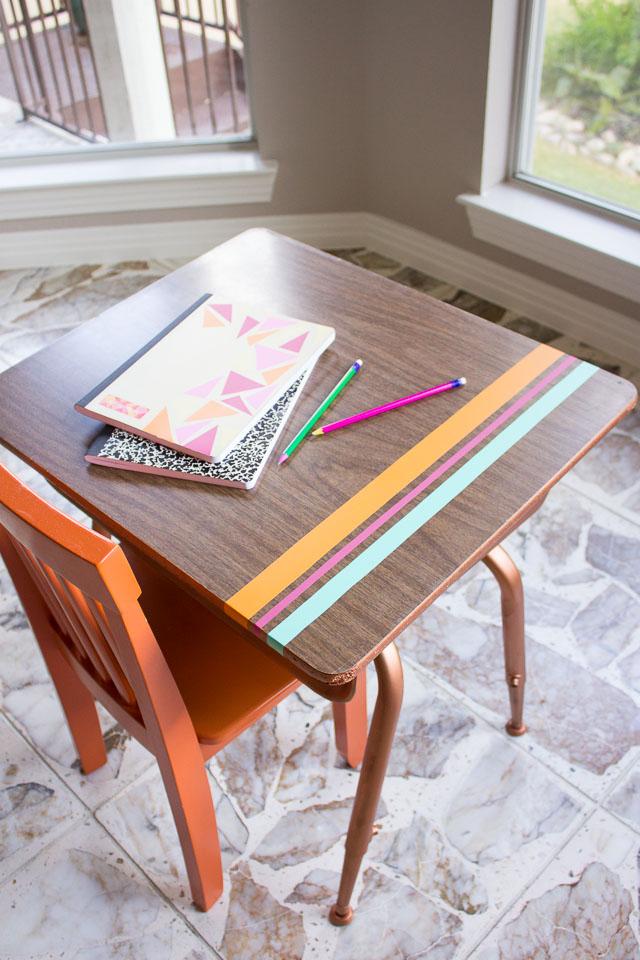 vintage school desk makoever